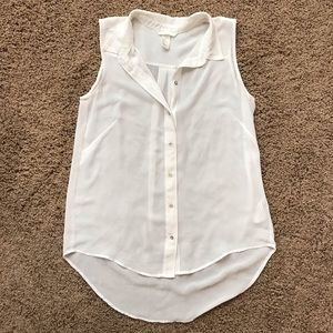 H&M Sheer Button Up Blouse